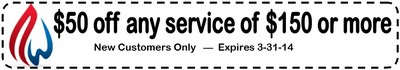HVAC Repair coupon 3-31-14