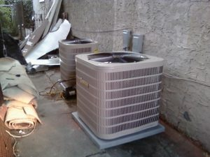 Air conditioning unit installed out