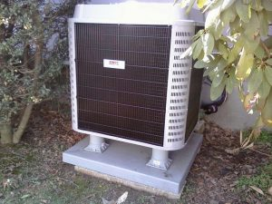 A newly installed Heil HVAC System outside of the home